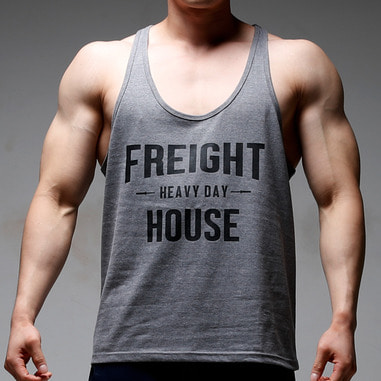 HEAVY DAY DEEP CUT TANK TOP [DARK GRAY]