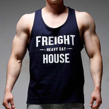 HEAVY DAY T-BACK TANK TOP [NAVY]