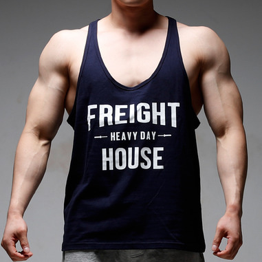 HEAVY DAY DEEP CUT TANK TOP [NAVY]